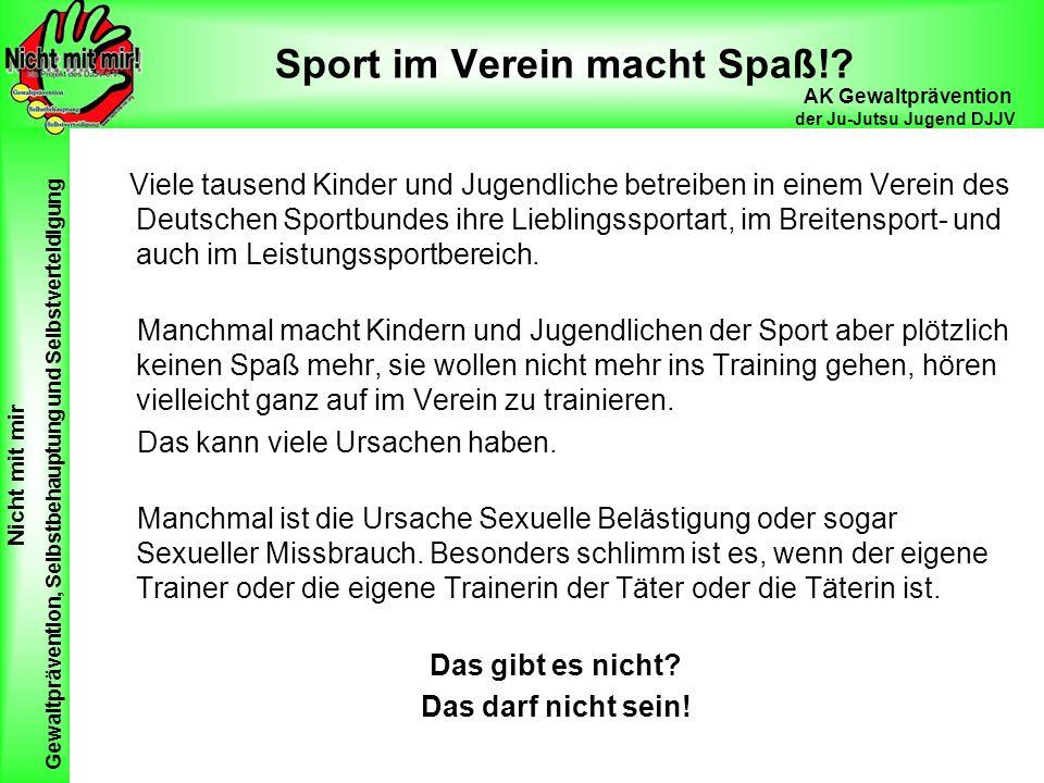 Sport im Verein macht Spaß!