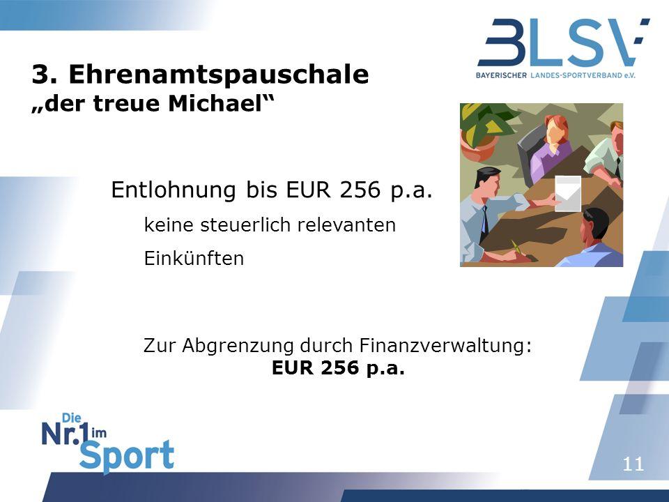 Zur Abgrenzung durch Finanzverwaltung: EUR 256 p.a.