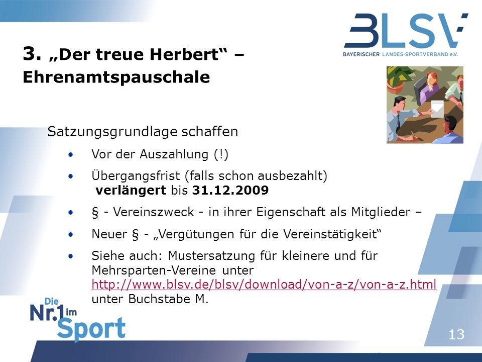 """3. """"Der treue Herbert – Ehrenamtspauschale Satzungsgrundlage schaffen"""