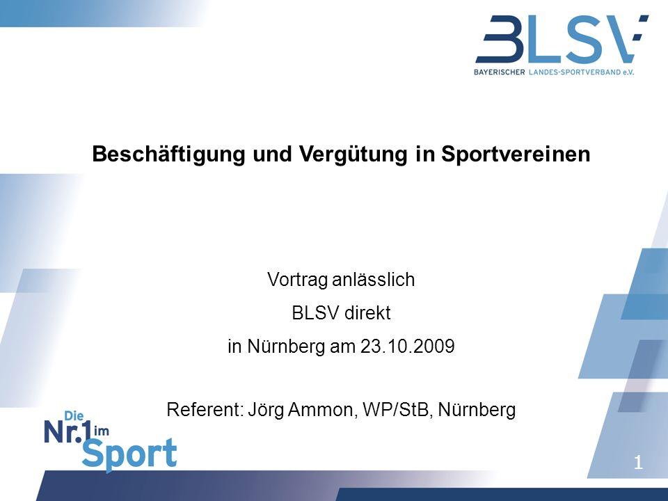 Beschäftigung und Vergütung in Sportvereinen
