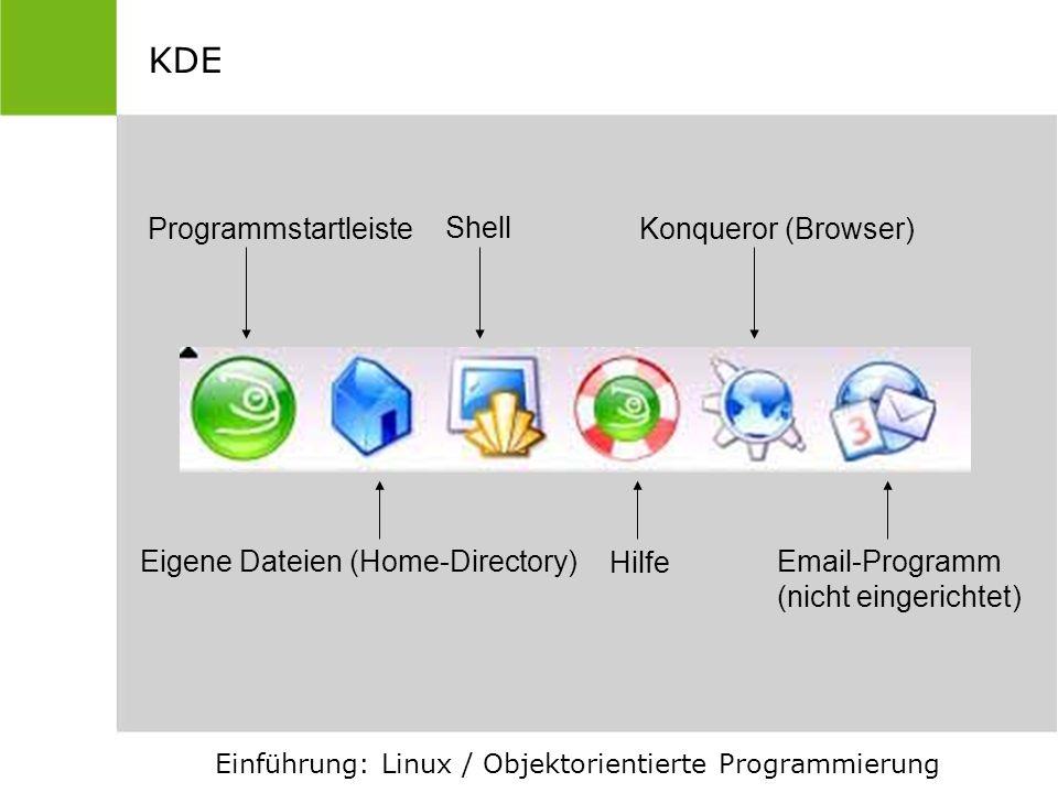 KDE Programmstartleiste Shell Konqueror (Browser)