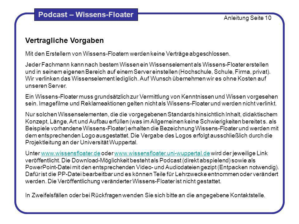 Podcast – Wissens-Floater