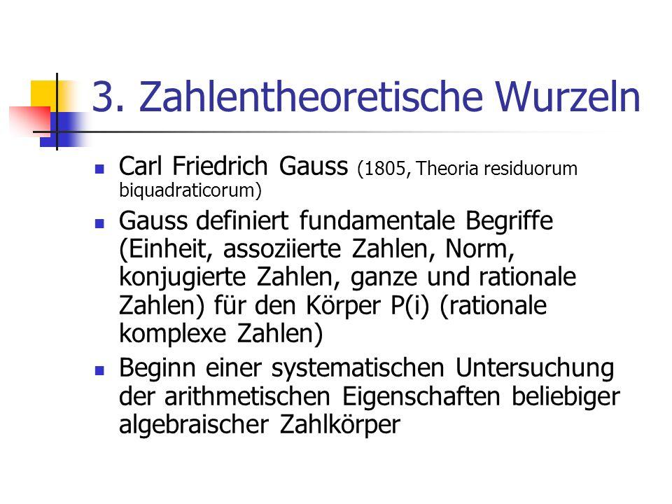 3. Zahlentheoretische Wurzeln
