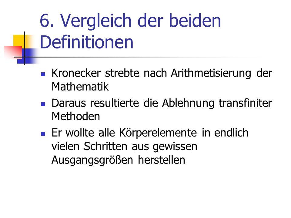 6. Vergleich der beiden Definitionen