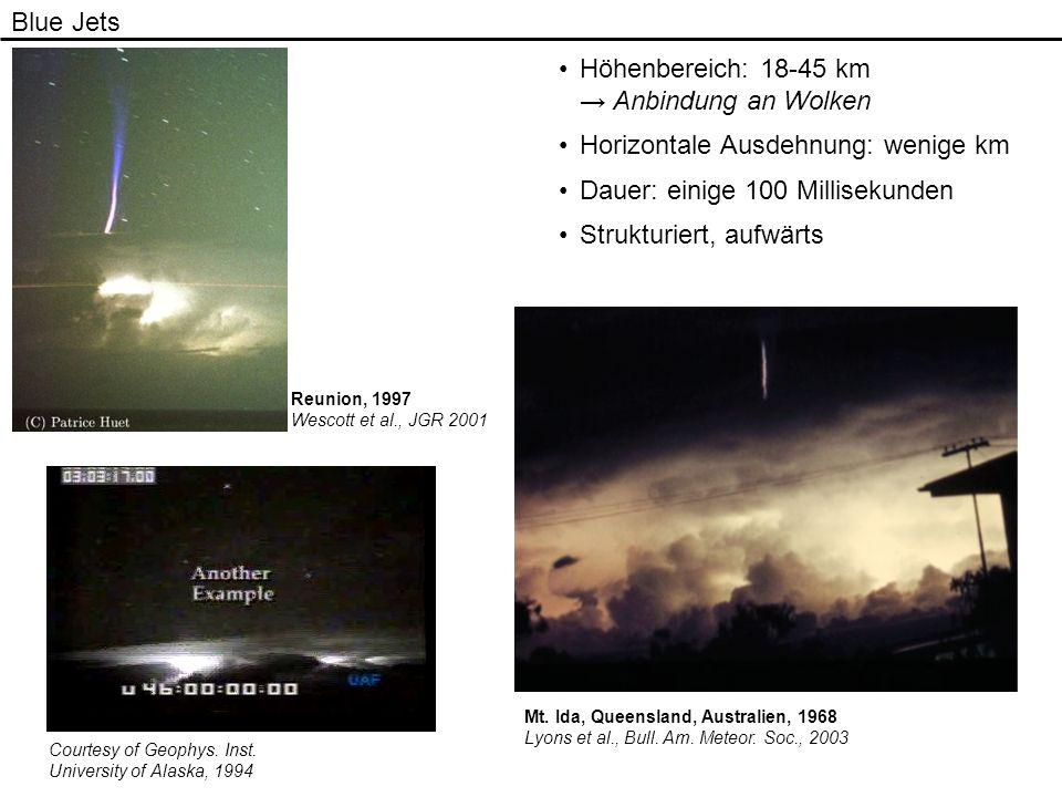 Höhenbereich: 18-45 km → Anbindung an Wolken