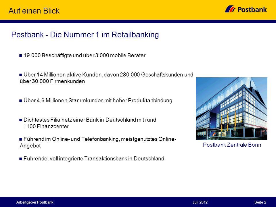 Postbank - Die Nummer 1 im Retailbanking