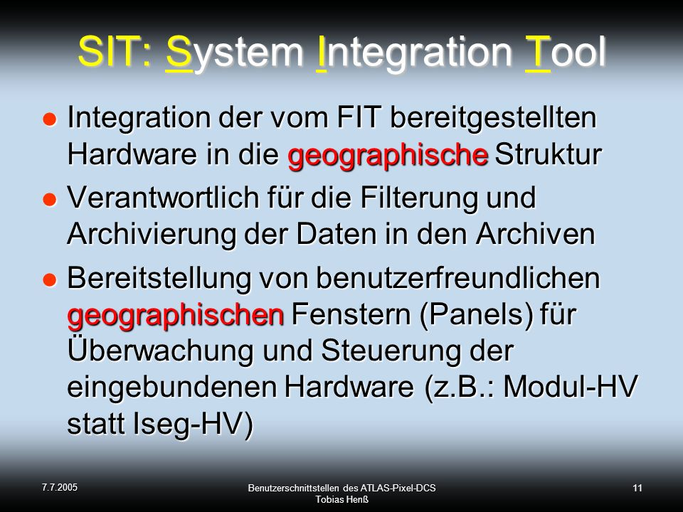 SIT: System Integration Tool