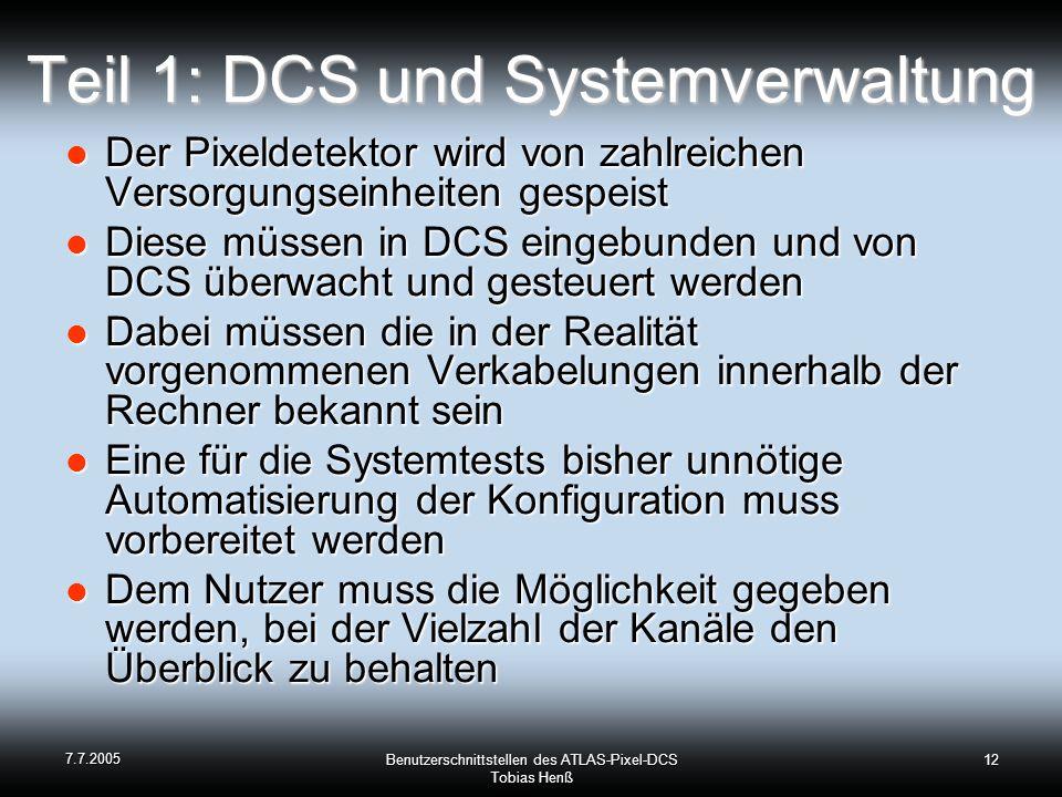Teil 1: DCS und Systemverwaltung