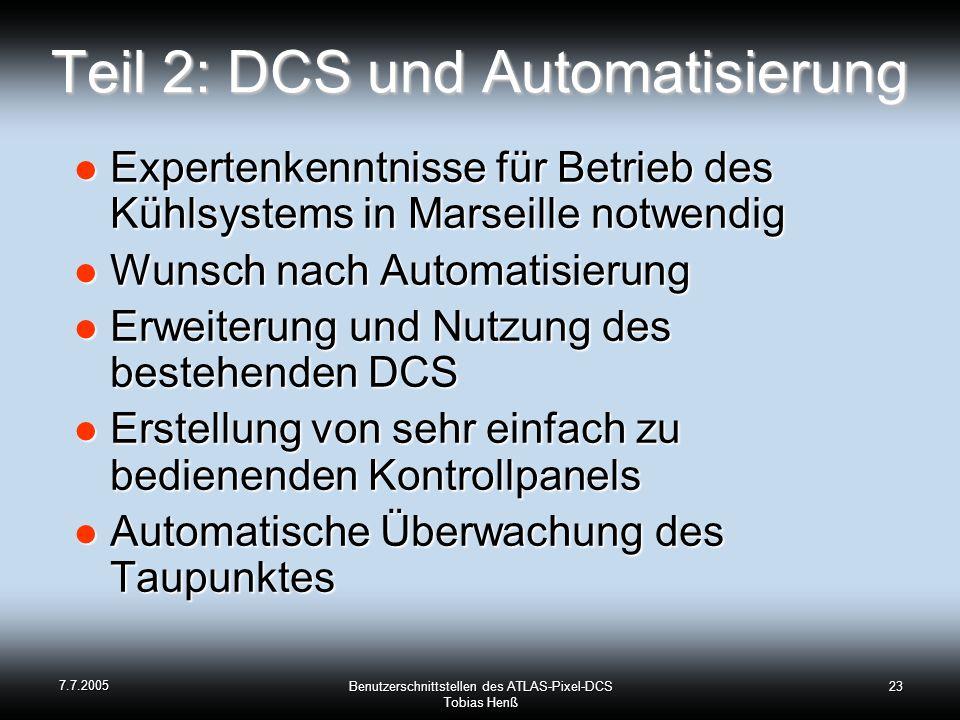 Teil 2: DCS und Automatisierung