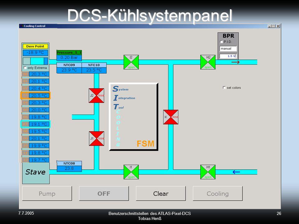 Benutzerschnittstellen des ATLAS-Pixel-DCS