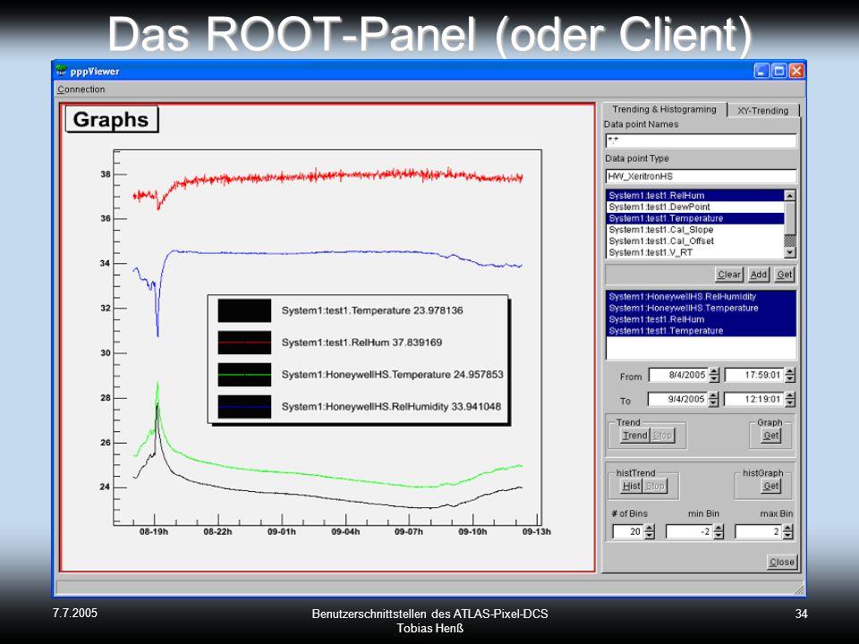 Das ROOT-Panel (oder Client)