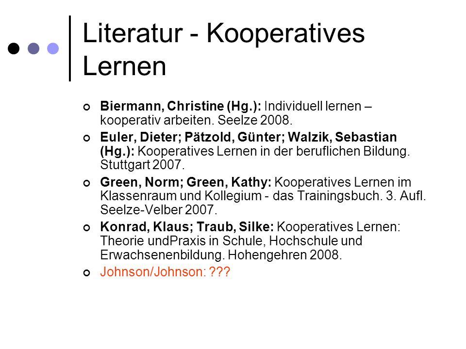 Literatur - Kooperatives Lernen