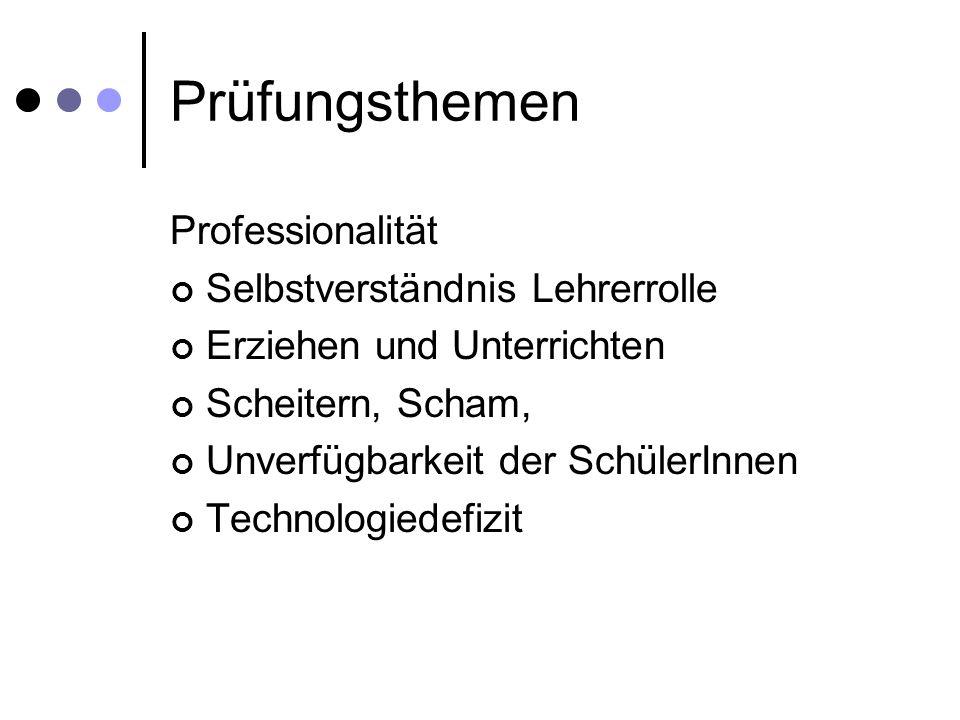 Prüfungsthemen Professionalität Selbstverständnis Lehrerrolle