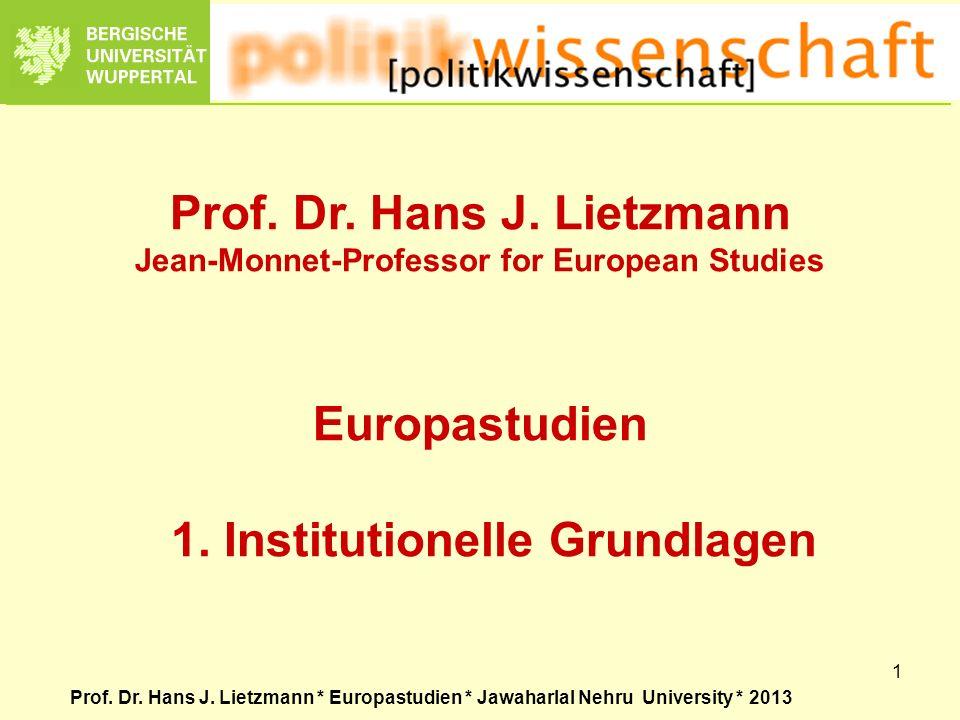 Prof. Dr. Hans J. Lietzmann
