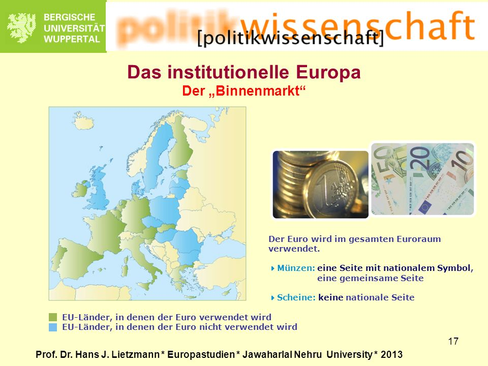 "Das institutionelle Europa Der ""Binnenmarkt"
