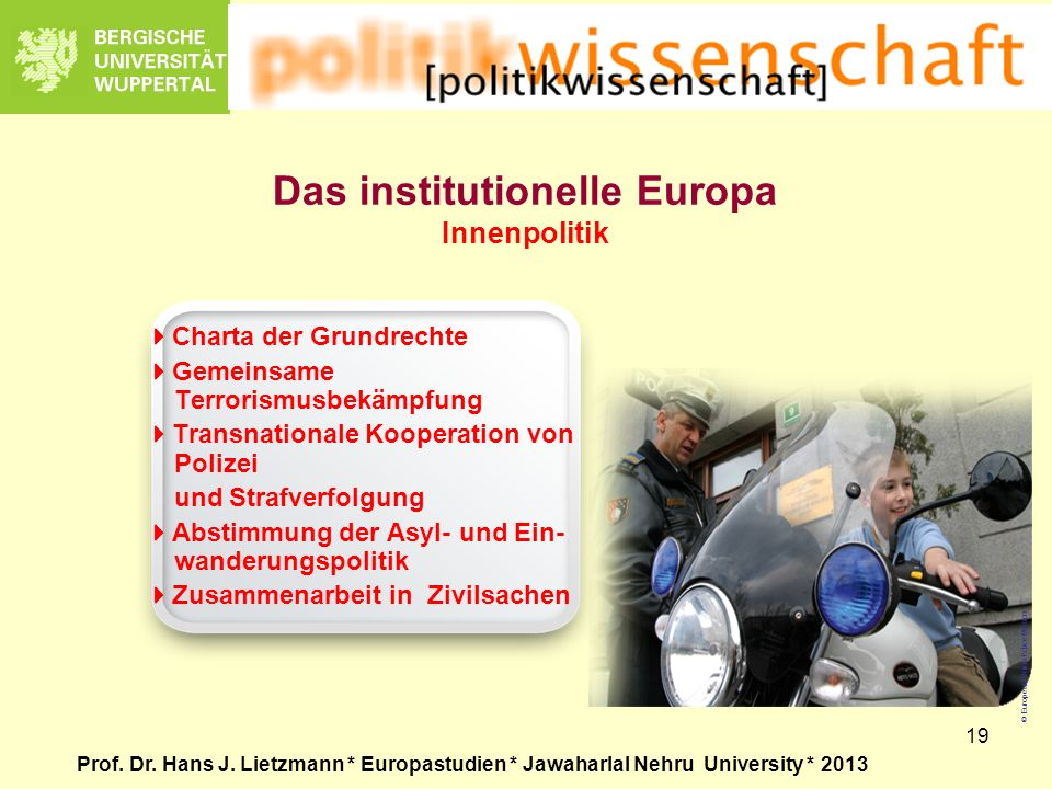 Das institutionelle Europa Innenpolitik