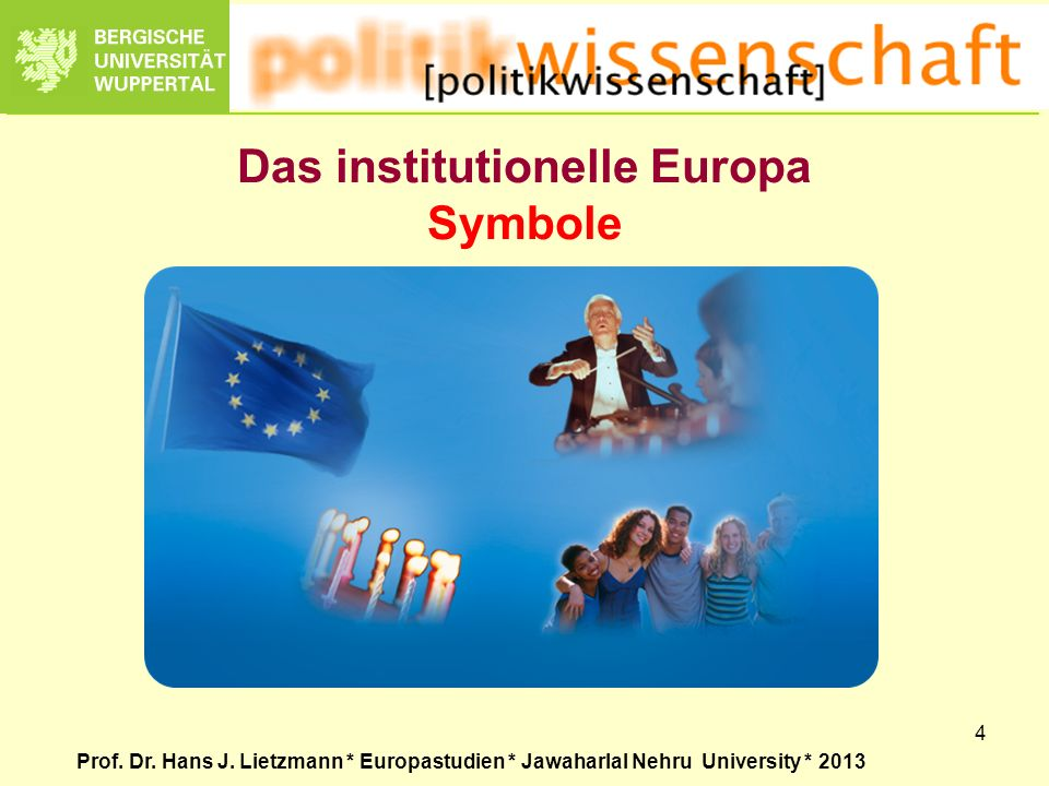 Das institutionelle Europa Symbole