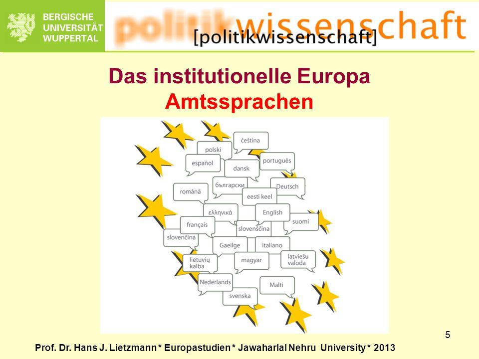 Das institutionelle Europa Amtssprachen