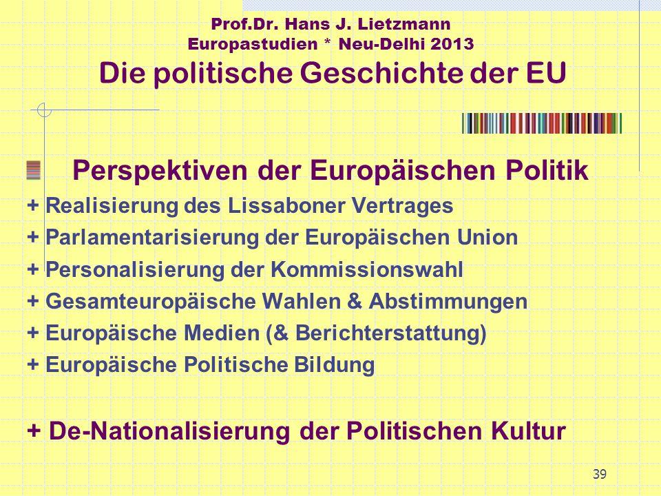 Perspektiven der Europäischen Politik