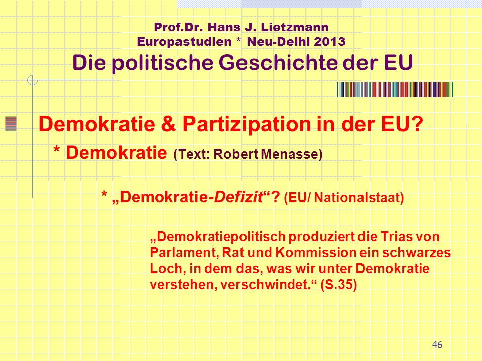 Demokratie & Partizipation in der EU