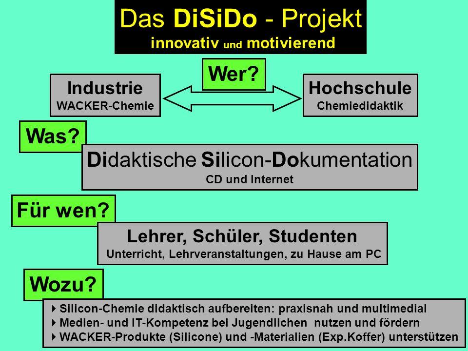 Das DiSiDo - Projekt Wer Was Didaktische Silicon-Dokumentation