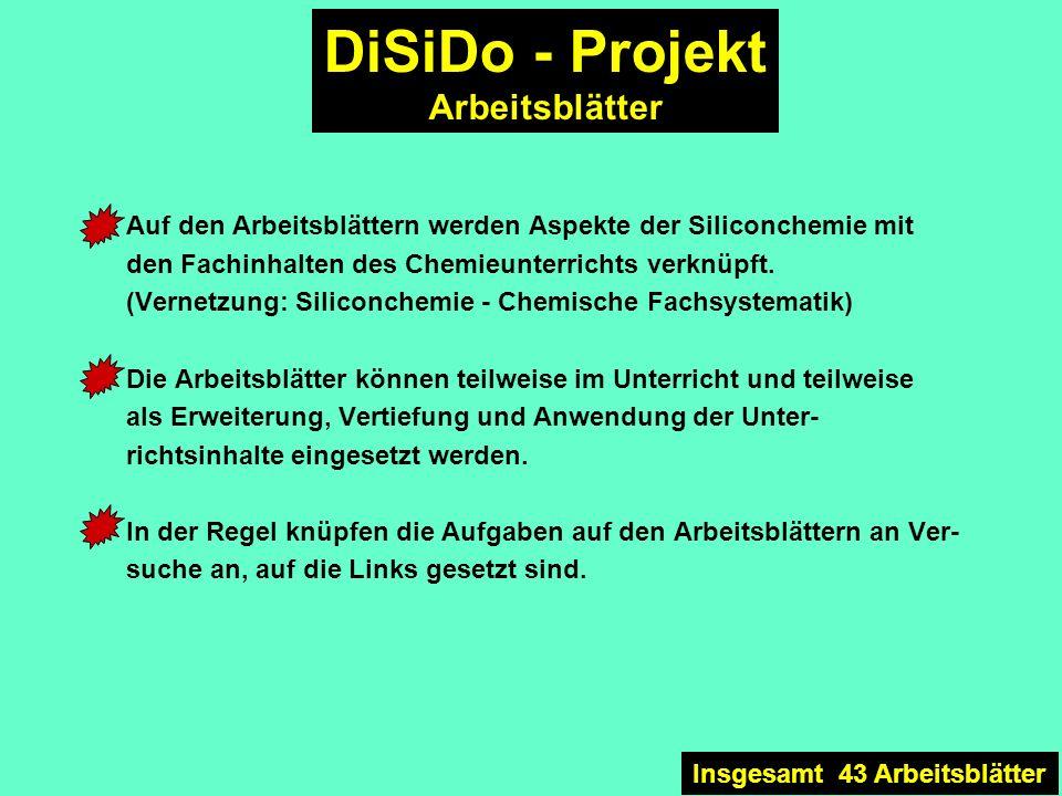 DiSiDo - Projekt Arbeitsblätter