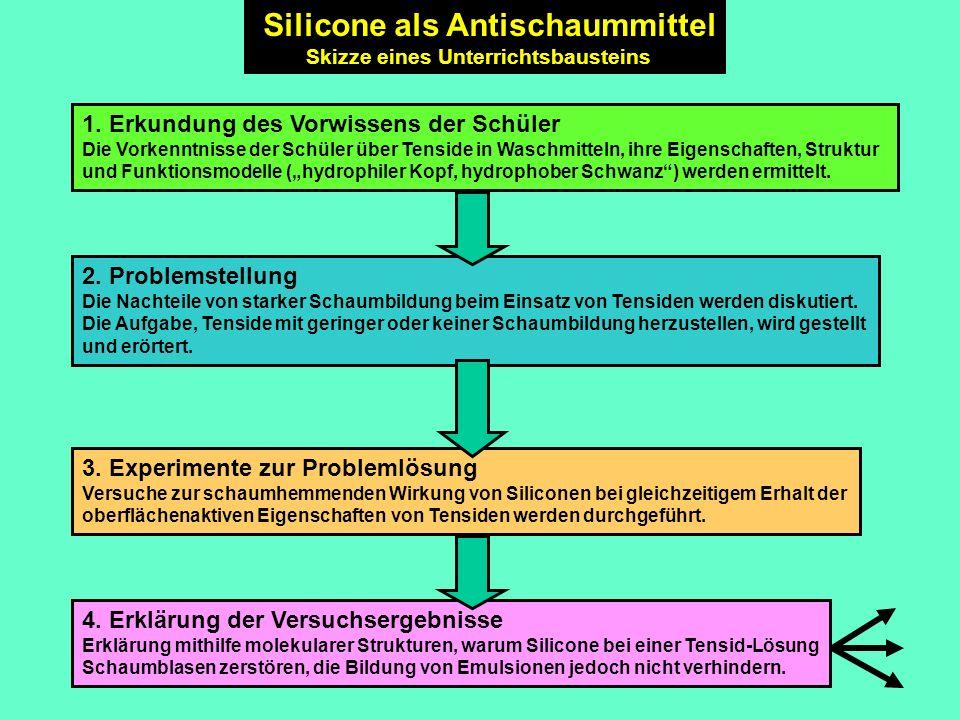 Silicone als Antischaummittel Skizze eines Unterrichtsbausteins