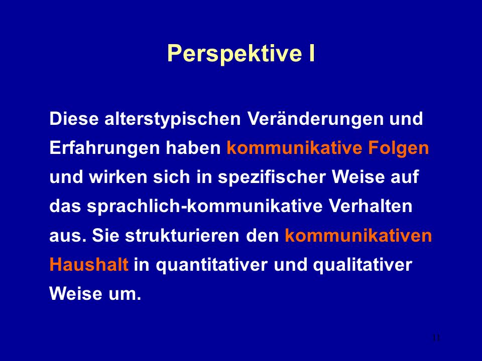 Perspektive I