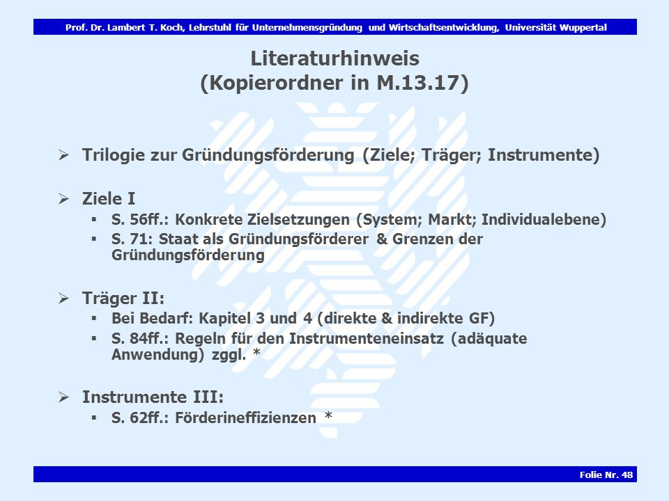 Literaturhinweis (Kopierordner in M.13.17)