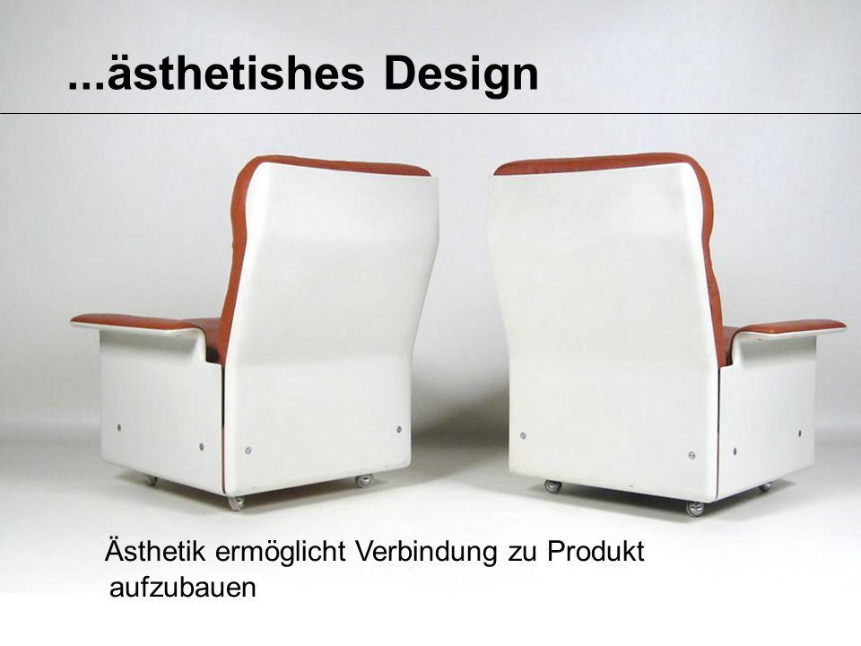 ...ästhetishes Design Ästhetik ermöglicht Verbindung zu Produkt aufzubauen