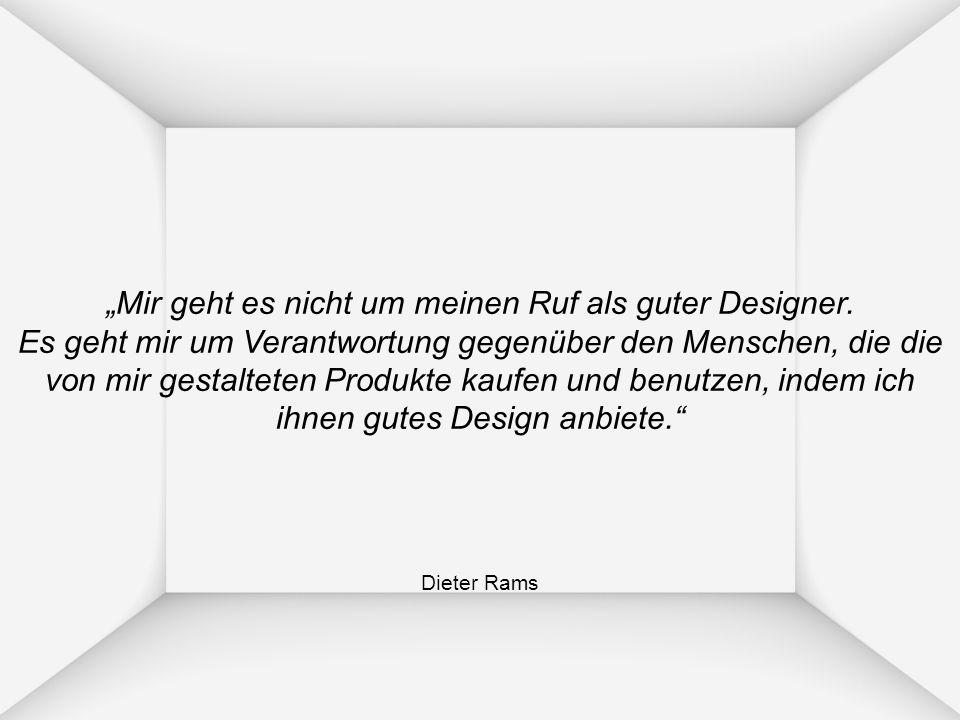 """""""Mir geht es nicht um meinen Ruf als guter Designer"""