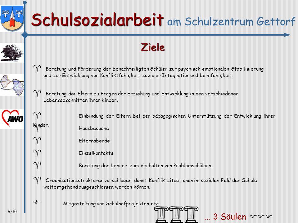 Ziele F Mitgestaltung von Schulhofprojekten etc. ... 3 Säulen FFF