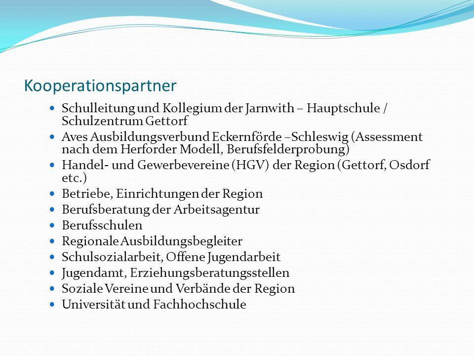 Kooperationspartner Schulleitung und Kollegium der Jarnwith – Hauptschule / Schulzentrum Gettorf.