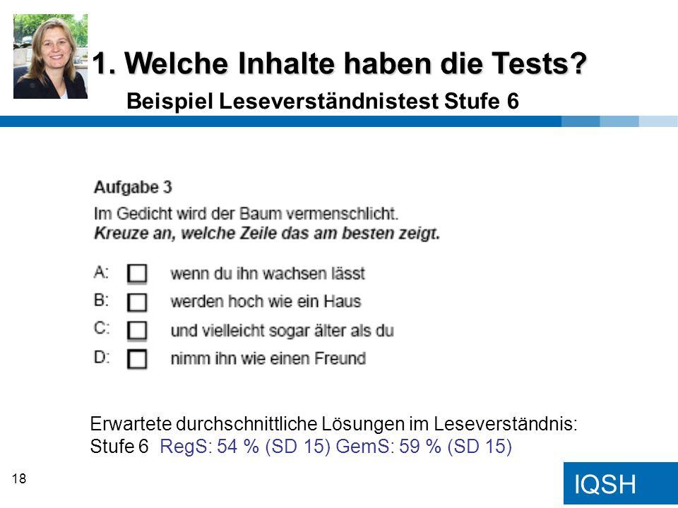 1. Welche Inhalte haben die Tests