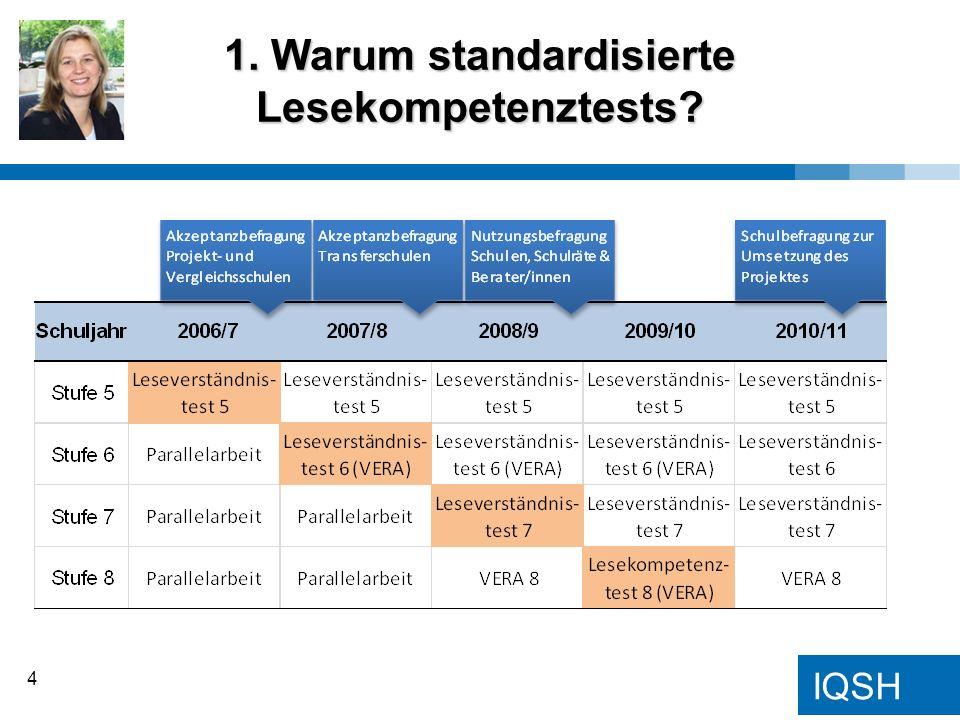 1. Warum standardisierte Lesekompetenztests