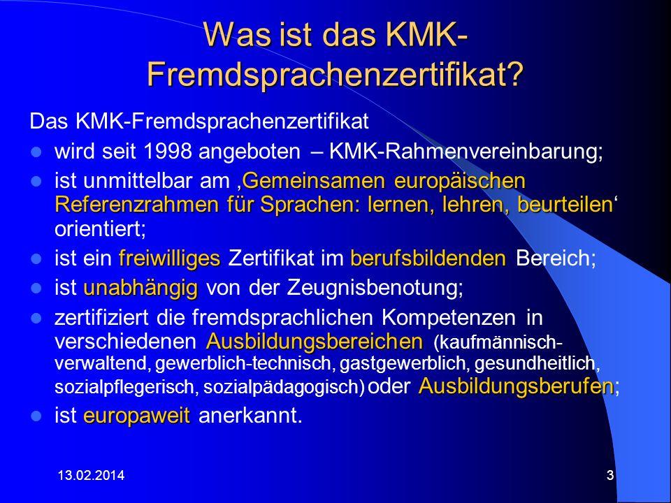 Was ist das KMK-Fremdsprachenzertifikat