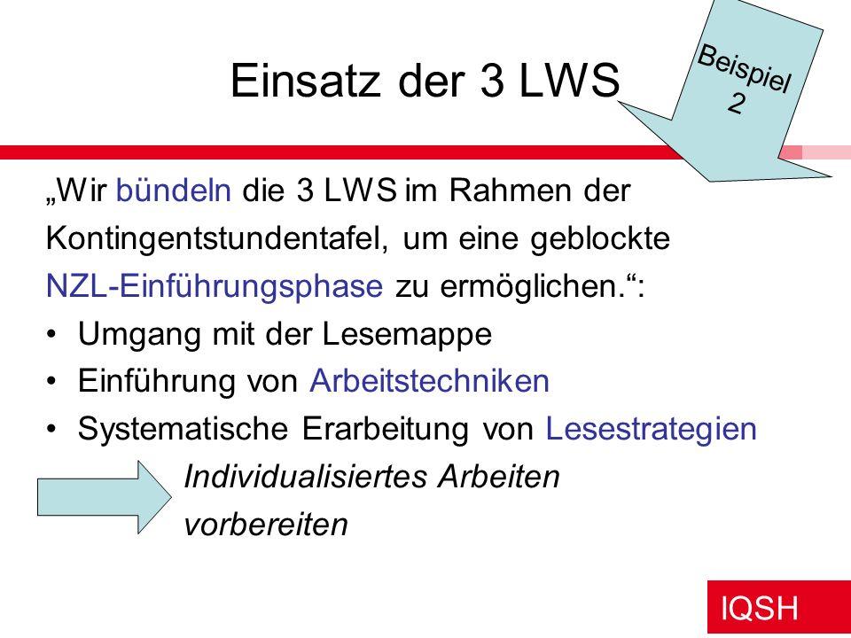 """Einsatz der 3 LWS """"Wir bündeln die 3 LWS im Rahmen der"""
