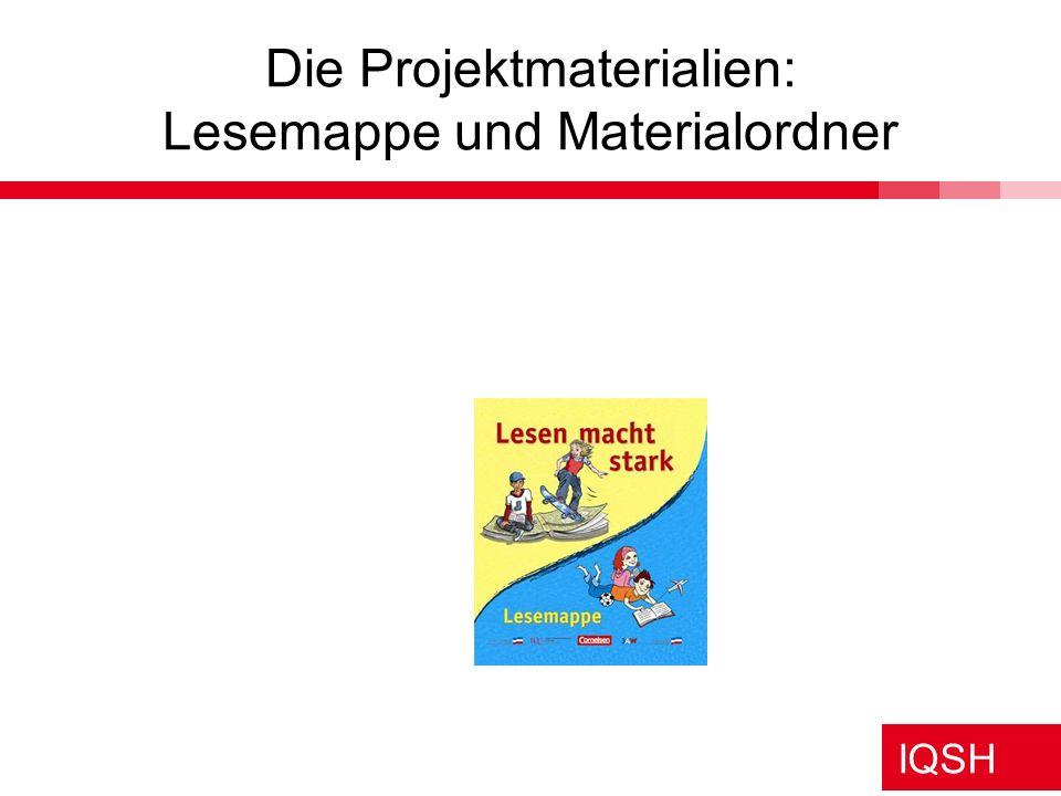 Die Projektmaterialien: Lesemappe und Materialordner