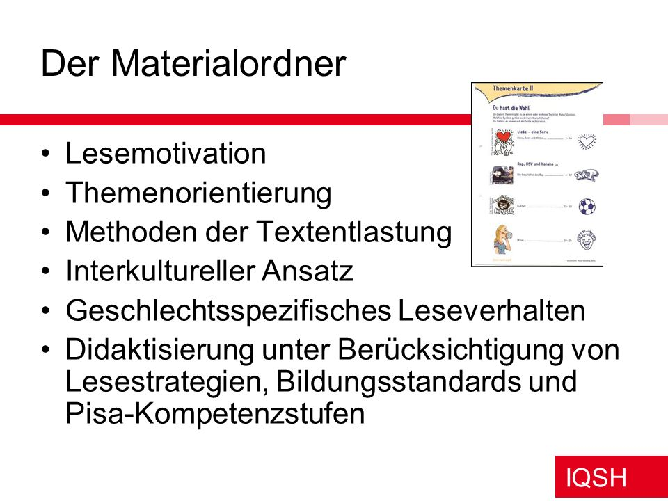 Der Materialordner Lesemotivation Themenorientierung