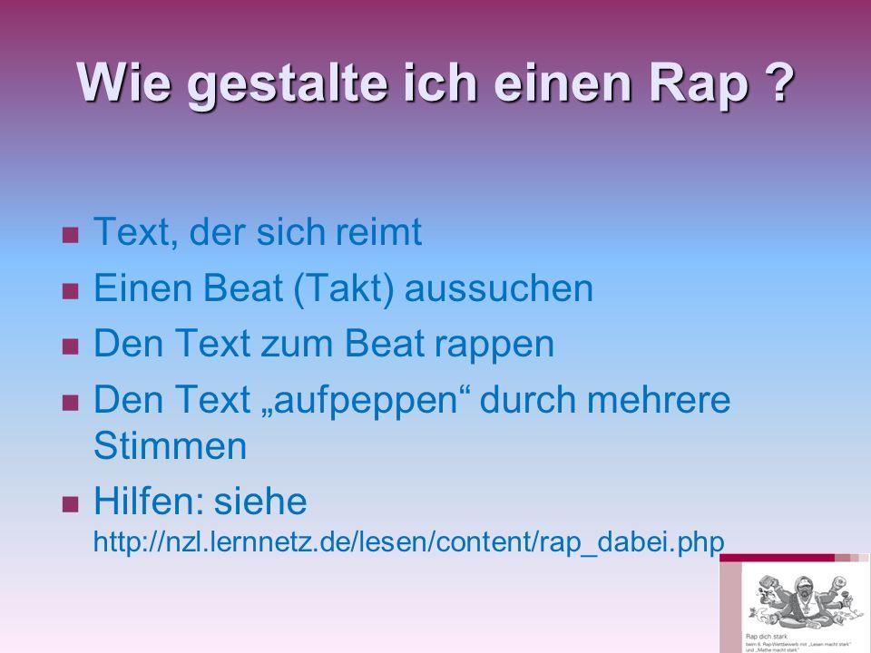 Wie gestalte ich einen Rap