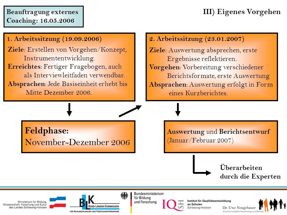 Feldphase: November-Dezember 2006