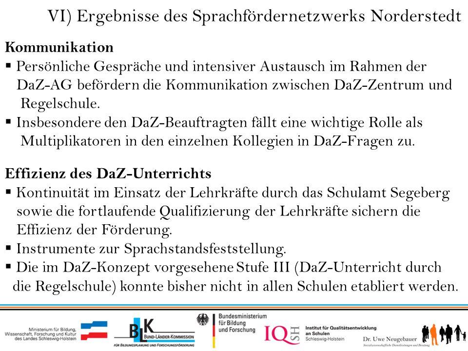 VI) Ergebnisse des Sprachfördernetzwerks Norderstedt