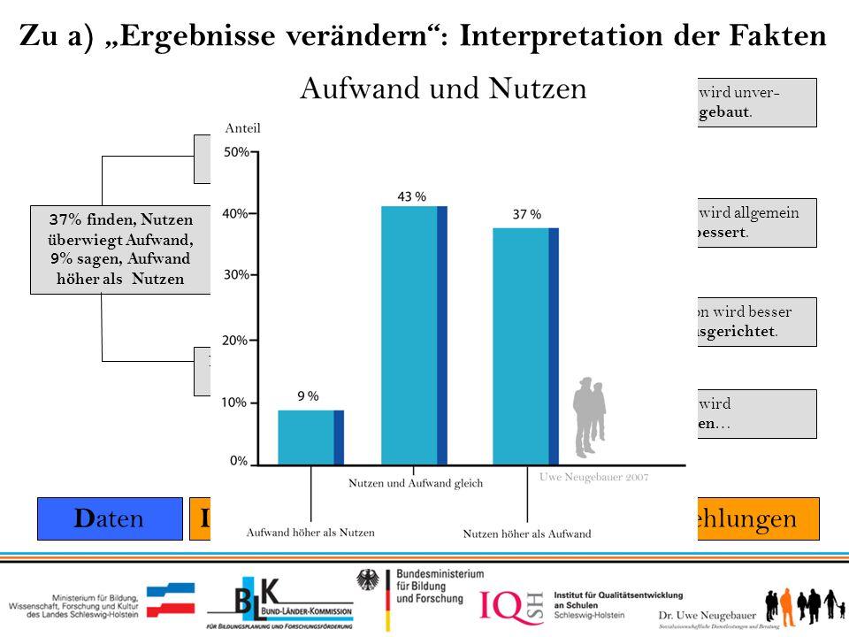 """Zu a) """"Ergebnisse verändern : Interpretation der Fakten"""