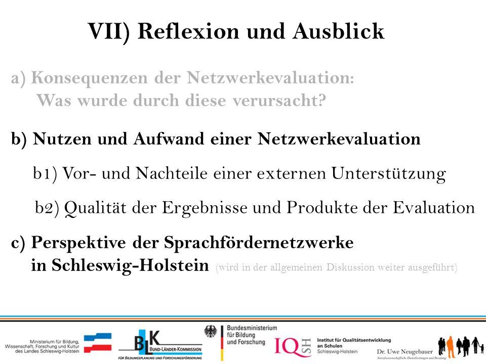 VII) Reflexion und Ausblick