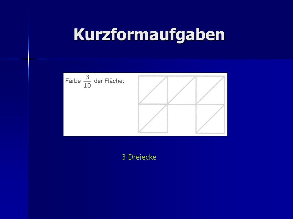 Kurzformaufgaben 3 Dreiecke