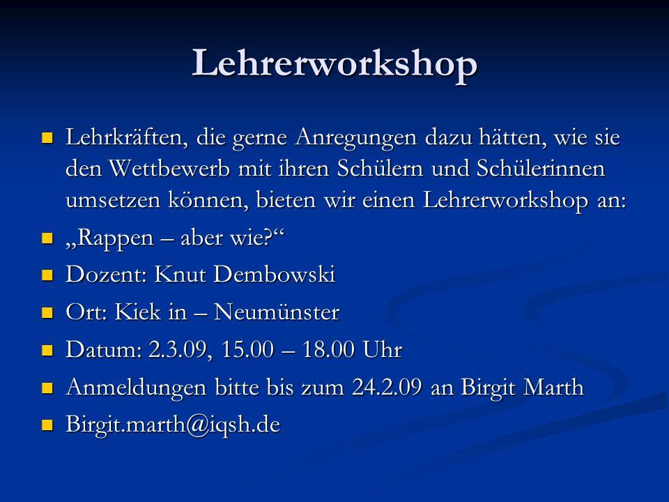 Lehrerworkshop