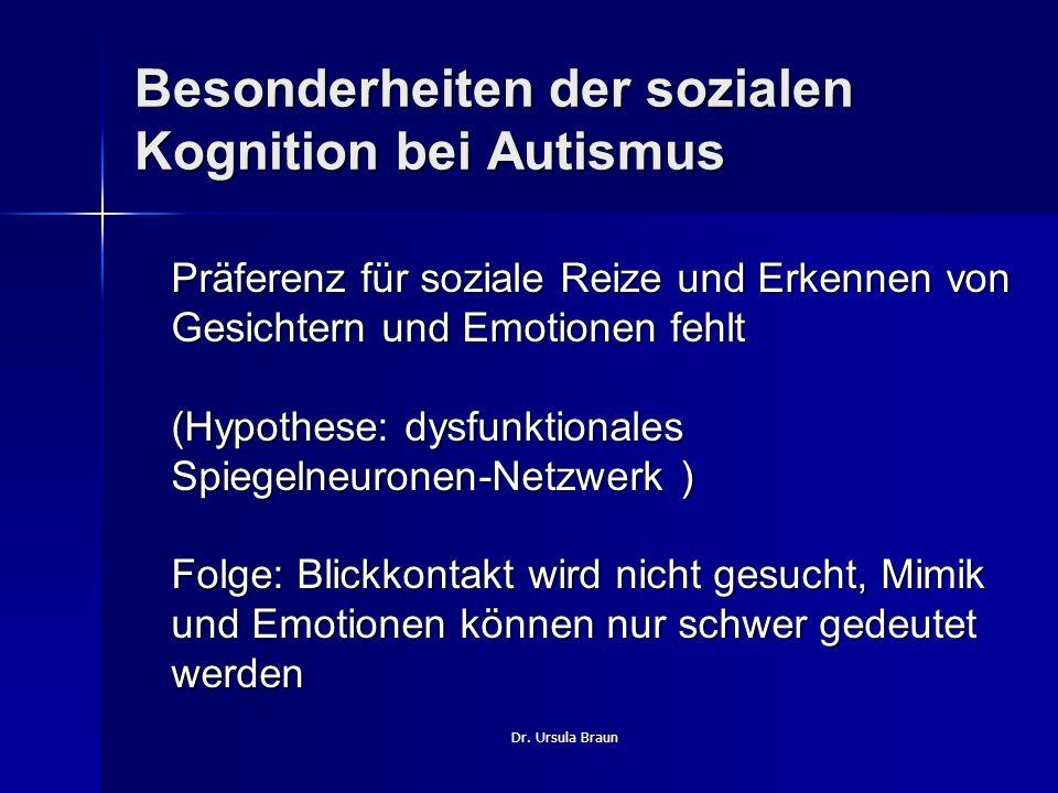Besonderheiten der sozialen Kognition bei Autismus