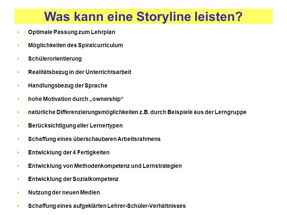 Was kann eine Storyline leisten