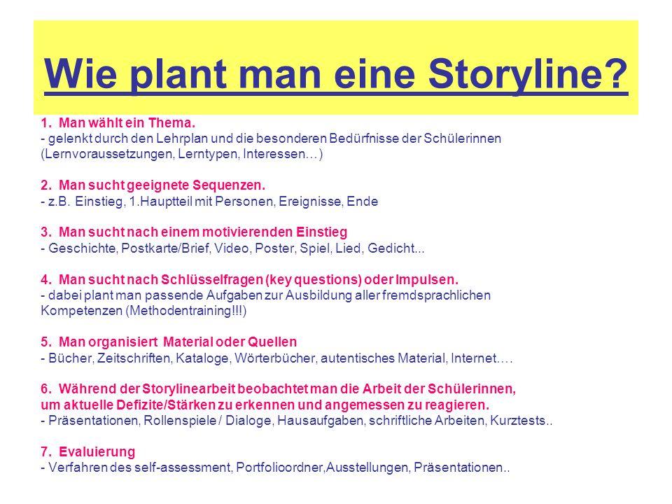 Wie plant man eine Storyline