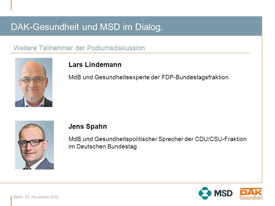 DAK-Gesundheit und MSD im Dialog.